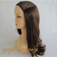 Best Selling Hat Fall Wig ,Half Head Wigs Hair ,Jewish Wig
