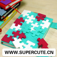 2014 silicon cover puzzle cute silicone cover promotional custom classmate wholesale school paper notebook