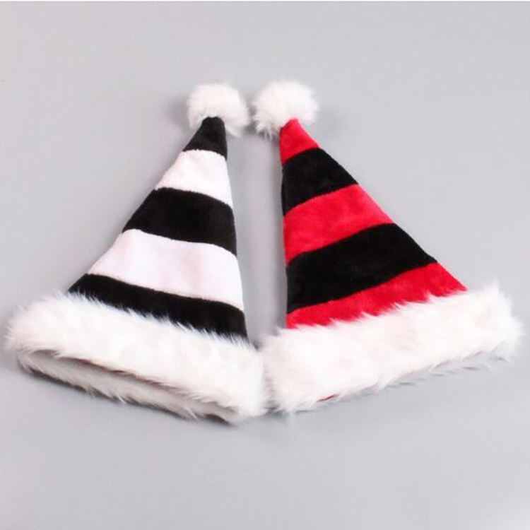 Promotional Christmas Decoration Classic Fleece Christmas Hat