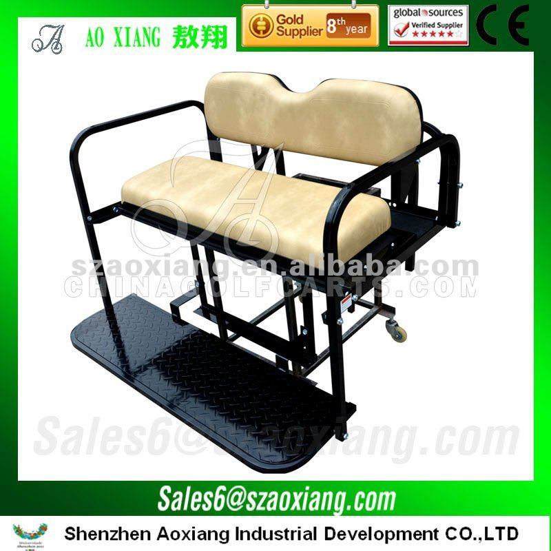 OEM golf cart parts EZGO Rear Seat for sale, deluxe EZGO TXT and RXV Golf Cart Rear Seat.