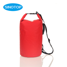 Factory sales red 500D PVC tarpaulin waterproof dry kayak canoe bag with handel big clear window