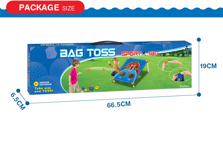 Outdoor game ball bean bag toss sport kids toys with 5 holes