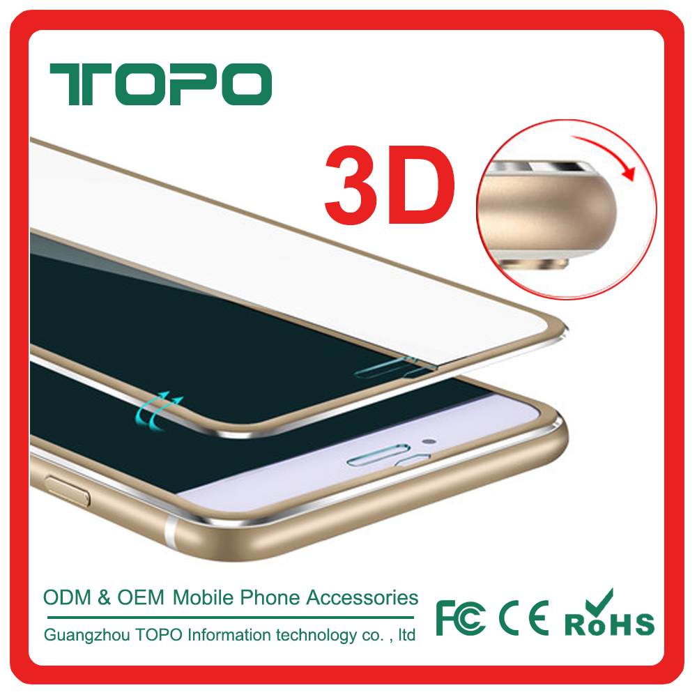 2016 Newest arrived 3D aluminium frame tempered glass screen Corlorful full cover protector for iphone 6 6s plus