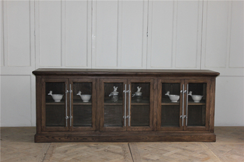 Antique furnitue solid wood extra long dining sideboard for sale