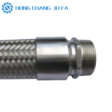 Heat resisting 1 2 inch stainless steel braided flexible metal corrugated hoses/hose pipe
