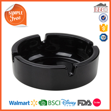 Melamine Factory Wholesale Black Plastic Melamine Ash Tray with Your Design