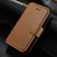 CaseMe Ultra-thin Cow leather bussiness Wallet Case For iPhone 4 4s 4g