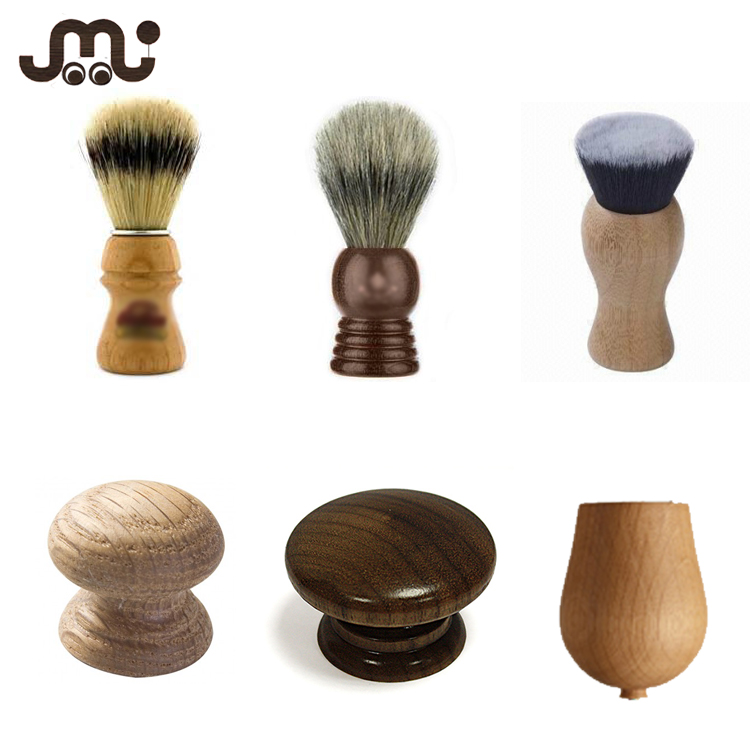 Custom different kinds quality wooden brush handle,multi finishes special shaving brush handles