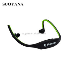 portable bluetooth rechargeable headphone with fm radio ,sports bluetooth 3.0 headset