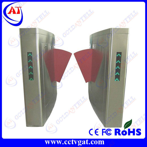 Stainless steel security mechanical automatic retractable gate arm barrier with entrance control system