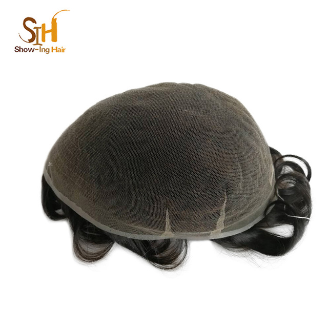 Wholesale Human Hair Piece French Lace Hair Replacement Toupee Men