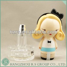 New Design Cute Doll Shape Perfume Empty Glass Cream Bottle 30ml For Woman Perfume