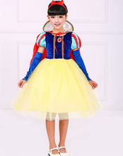 New Costume Snow White Girls Party Dress Kids Masquerade Dress Christmas Dress Kid Princess Costume For Girls
