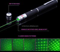 xinland laser 5mw-200mw green Laser stargazing Pen 5 in 1 green starry beam lazer