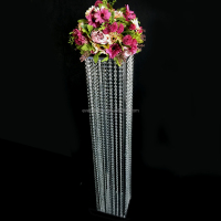 Hot wedding tall pillar / acrylic and metal flower stand for decoration wedding way