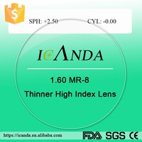 1.60 high index scratch resistance optic lens