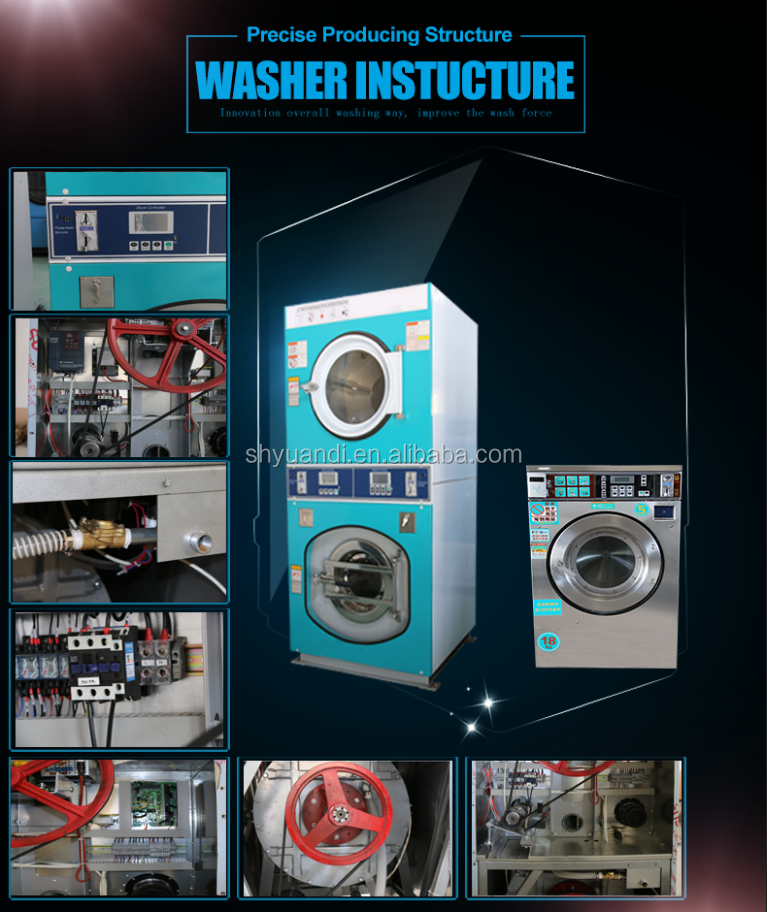 Hippo professional coin / card operated customizable washing machine