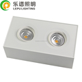 new design double head ceiling surface downlight led cob 18w fast wiring and install dim to warm with factory direct sale 5year