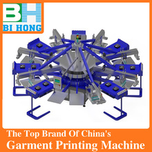 Your Best Choice! BIHONG Vinyl t shirt printing machine press with Rotary table Silk screen printing type