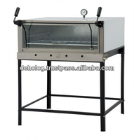 pizza oven with 900 mm glass display