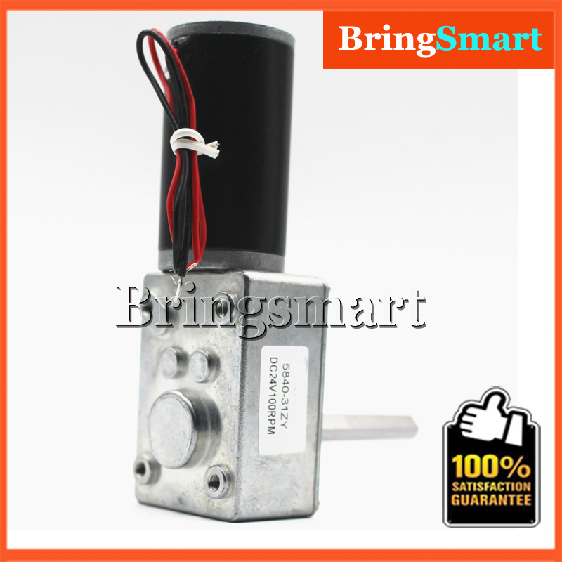 DC 24V PMDC Geared Worm Motors 12V DC Low Rpm High Torque Reversible Motor
