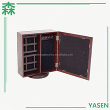Yasen Houseware Mirror Jewelry Cabinet Storage Table Living Room Furniture Small Wooden Jewelry Cabinet