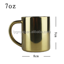 Luxury 7oz gold color moscow print copper coffee mug / printing copper coffee warmer
