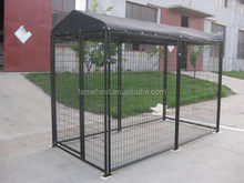 The Powder Coated Black 10'x10'x6' Dog Kennel With Top Cover