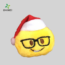 Lovely Interesting Emoji Keychain With Santa Clause Hat