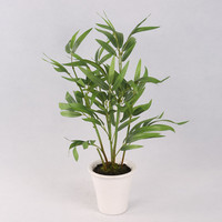 Artificial green delicate bamboo tree