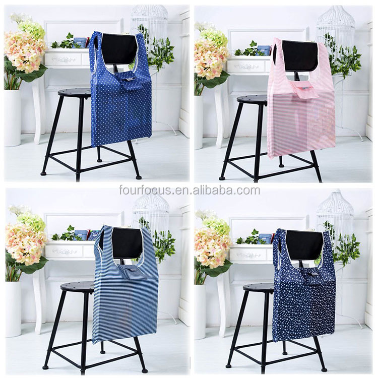 High quality Polyester Tote Shopping Bag Super Foldable & Reusable Bag 100% Ripstop Thick Polyester for Shopping Travel Outdoor