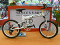 20inch folding bike with shock absorber white color steel frame adult bicycle with suspention