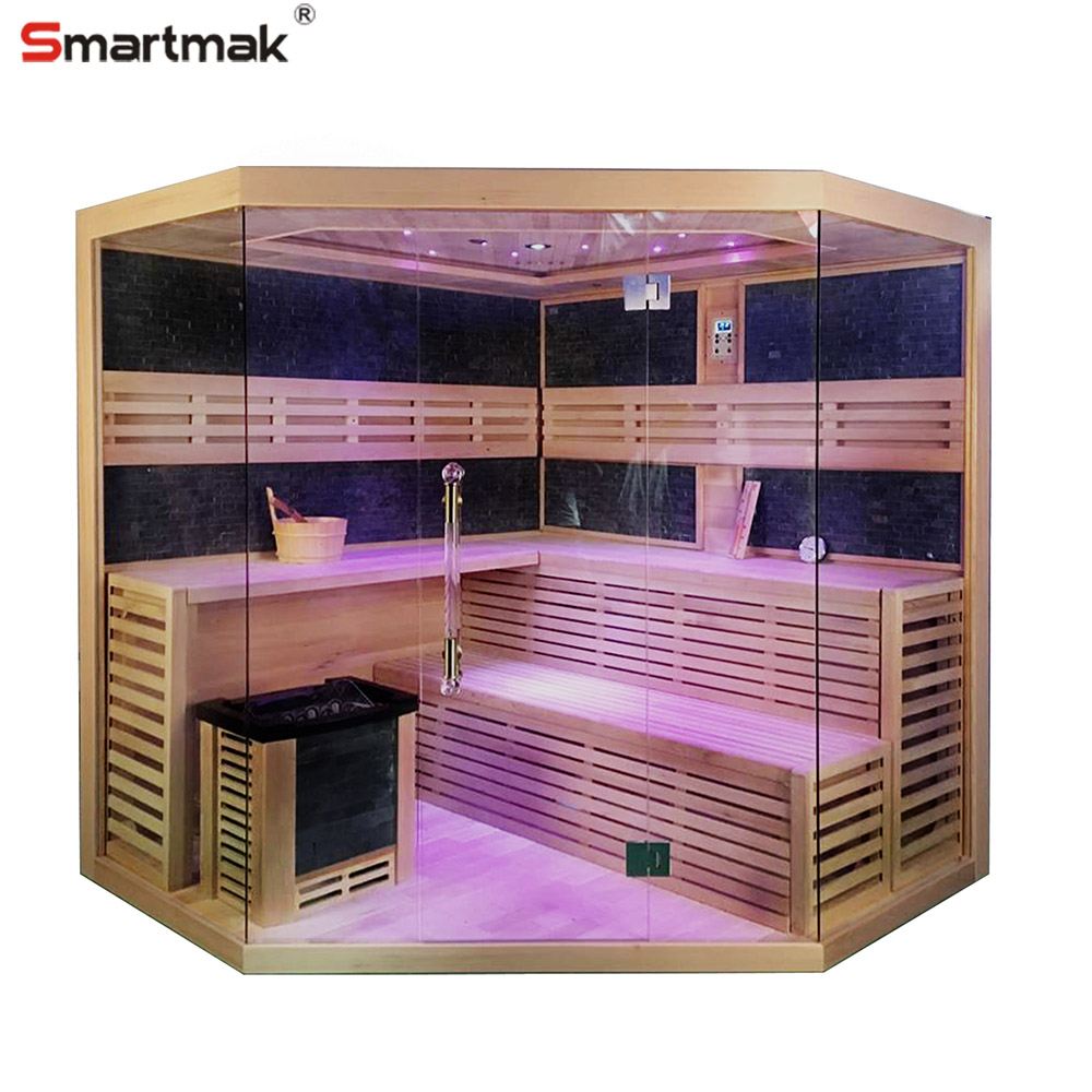 Popular Model Cedar Wood/Hemlock Wood Personal Traditional Sauna