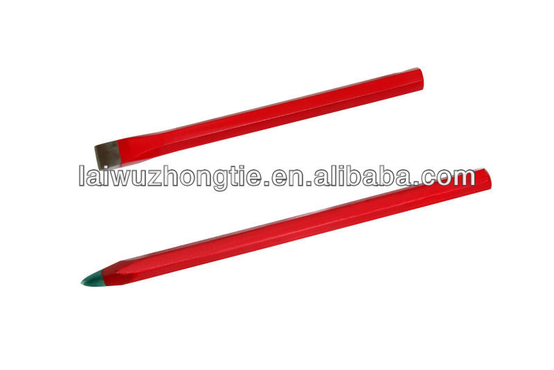 Hexagonal Flat Edge Cold Chisel With Rubber Grip