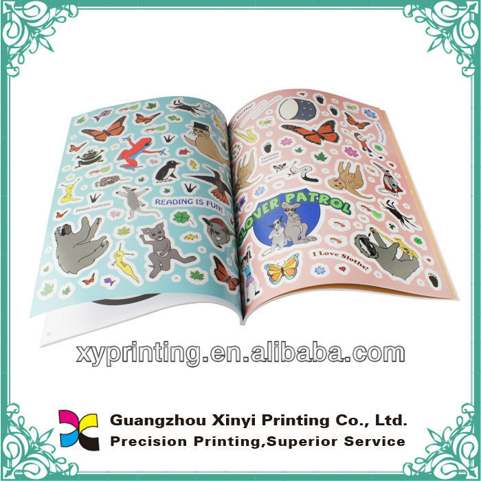 Perfect binding sticker books printing
