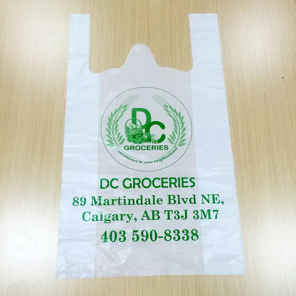 HDPE Clear Plastic T Shirt Bag With Custom Printing