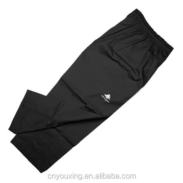 high quality ribbed fabric black taekwondo dobok on sale