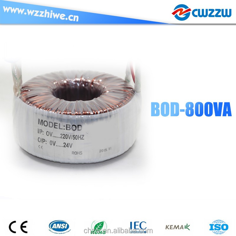 BOD-800W/VA step up down toroidal transformer 110v 220v