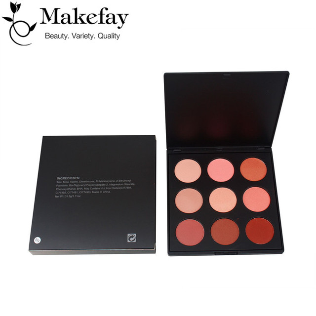 Best cosmetic blusher Long-lasting professional Face Make-up Cheek Color 9 colors