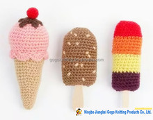 fashion design kit Holiday gifts crochet Ice cream yarn crochet DIY crochet food crochet diy kit
