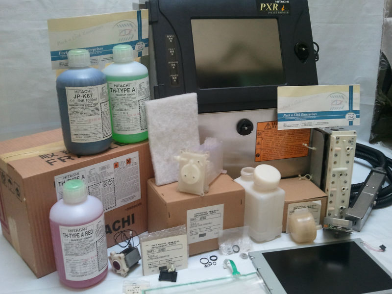 Used hitachi and Domino industrial printer parts,consumables