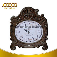 Europe Style Polyurethane Foam Retro Decorative Table Clock In China