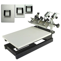 NS103 Manual desk top 3 platens 1 color screen printing machine press for flat surface objects with micro-adjustable