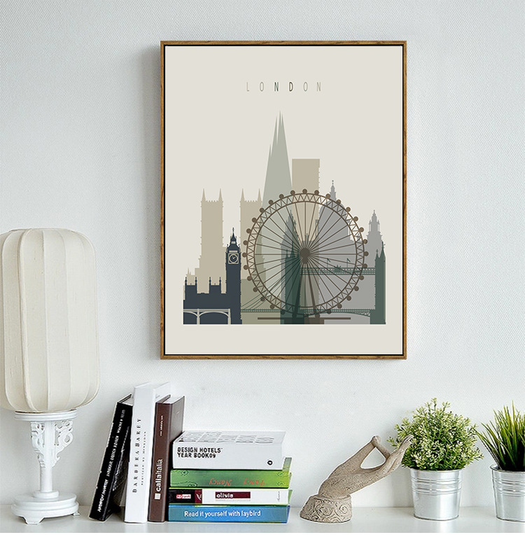 Plain-coloured city illume contemporary contracted style living room adornment picture office bedroom hangs a canvas painting