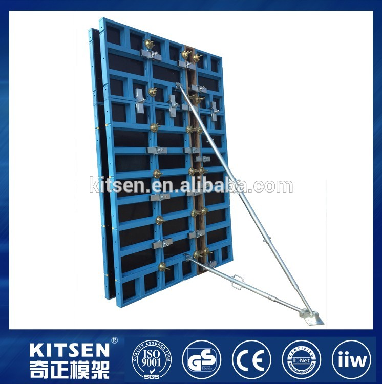 Aluminum Frame Plastic Formwork Wall System In Construction