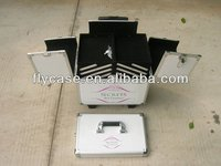 Aluminum makeup case with trolley,trolley cosmetic case,trolley hairdresser case