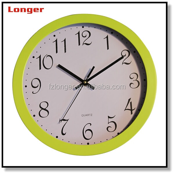 2016 new design promotion round chiming cheap wall clocks decorative wall clock