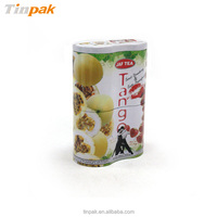 2 tiered peanut shape tin can food packaging