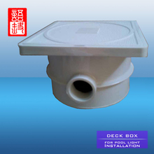 UV & Chemical resistant IP68 water protected Deck Box with adaptors