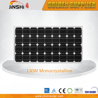 Factory direct sale OEM ODM pv solar panel 130w